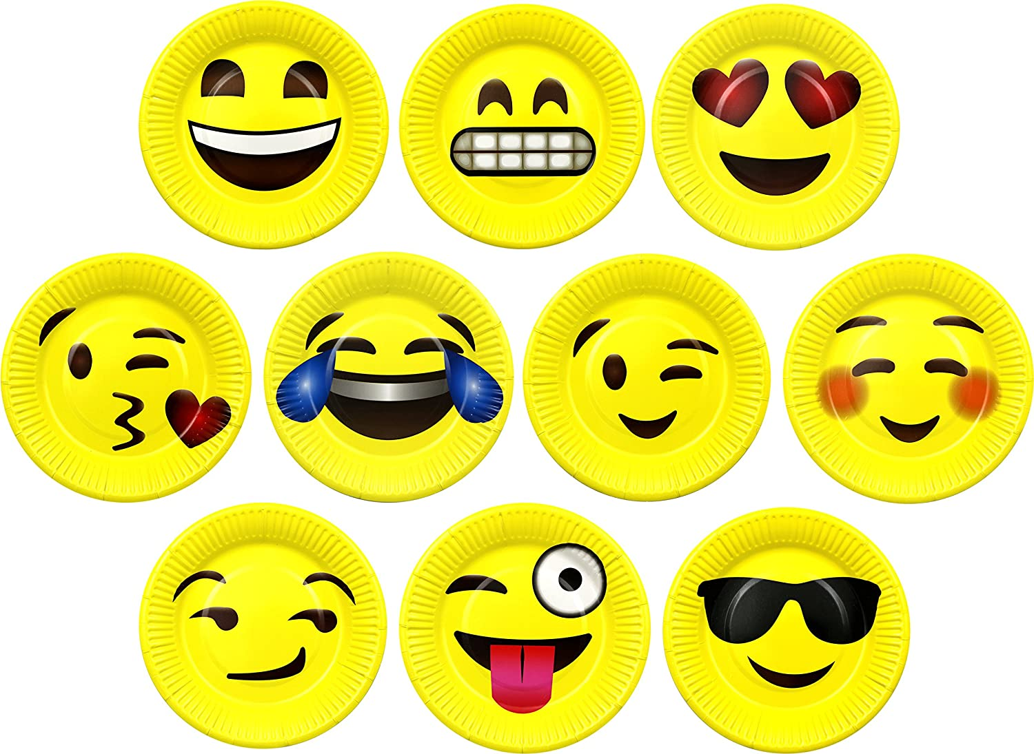 Bulk 50 Pack of Mixed Expressions Emojis