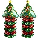 CCINEE クリスマス クリスマスツリーアルミバルーン クリスマスツリー風船 デコレーショ 四つ葉アルミバルーン 豪華 飾り付け パーティー 仮装 学園祭 文化祭 小道具 ホームデコレーション用小物