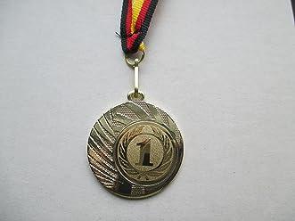 Pokale & Preise Zahl Nr 1 Pokal Kids Medaillen 70mm 3er Set Deutschland-Bändern Emblem Zahlen