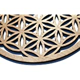 """12"""" Flower of Life, Seed of Life, home decor, wooden wall art, sacred geometry art, sculpture, wall decorations, USA made"""