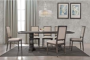 Best Master Furniture Rectangular 7 Piece Dining Set Grey