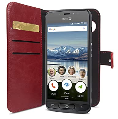 new product 1f046 ff4a3 Doro 8040 Magnetic Wallet Case with Card Holder (Red)
