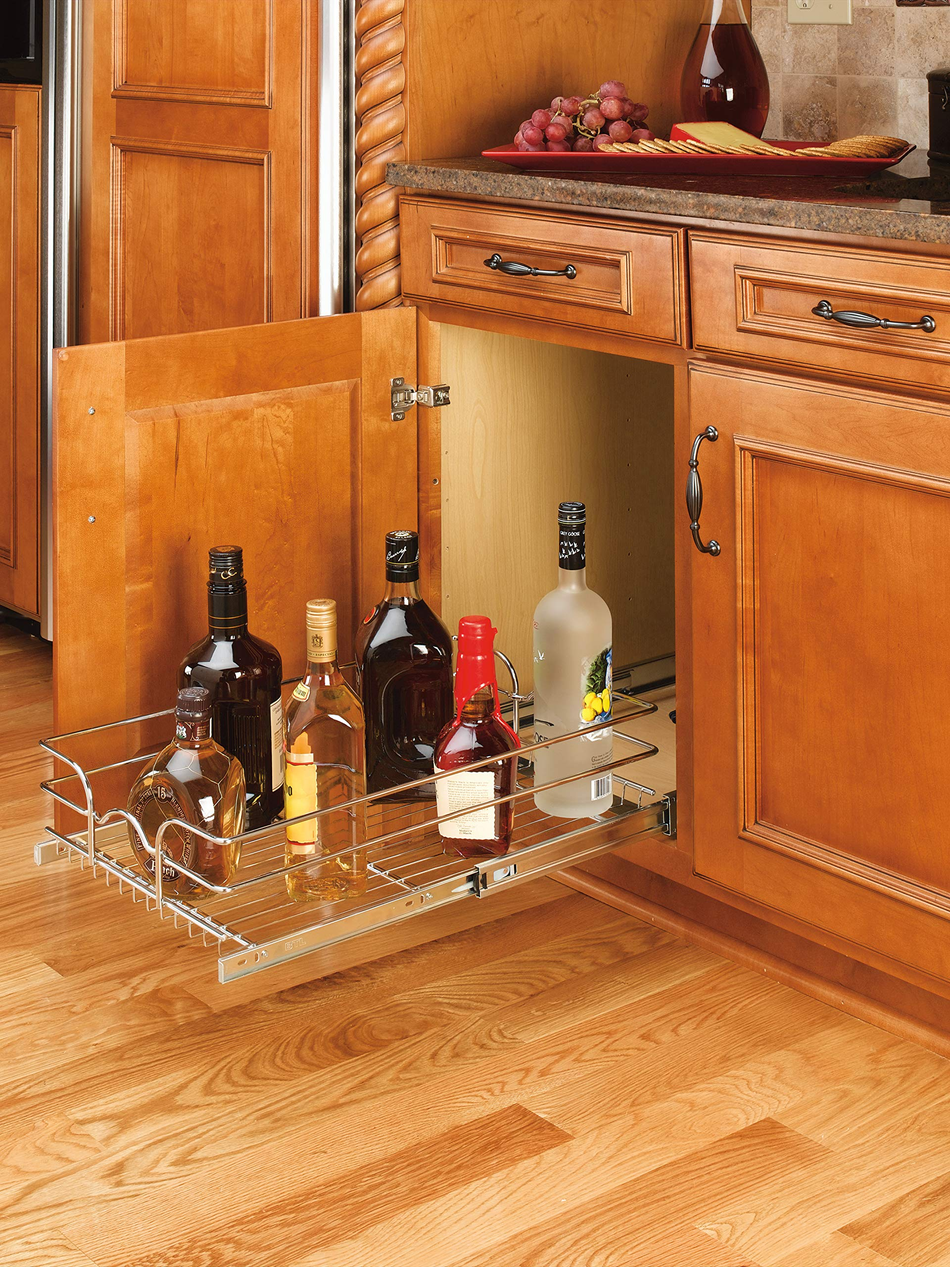 Rev-A-Shelf - 5WB1-2122-CR - 21 in. W x 22 in. D Base Cabinet Pull-Out Chrome Wire Basket by Rev-A-Shelf (Image #4)