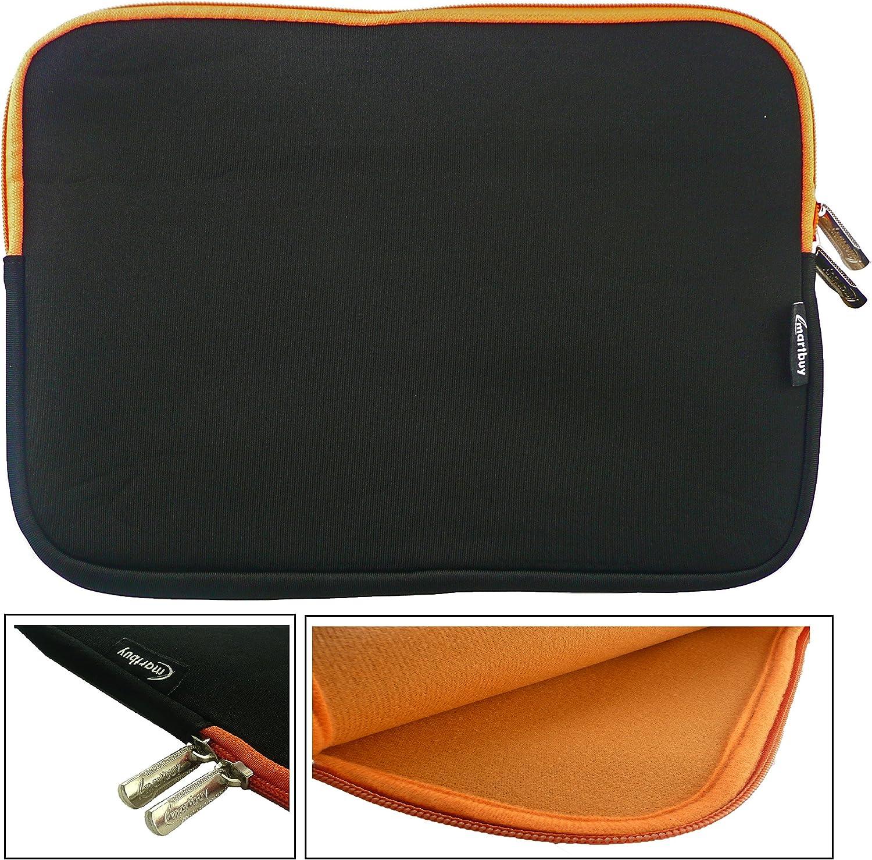 11.6-12.5 Inch Tablet Chromebook Laptop Emartbuy Black//Red Water Resistant Neoprene Soft Zip Case Cover Sleeve With Red Interior /& Zip Suitable for HP Elitebook 820 G2 12.5 Inch Laptop