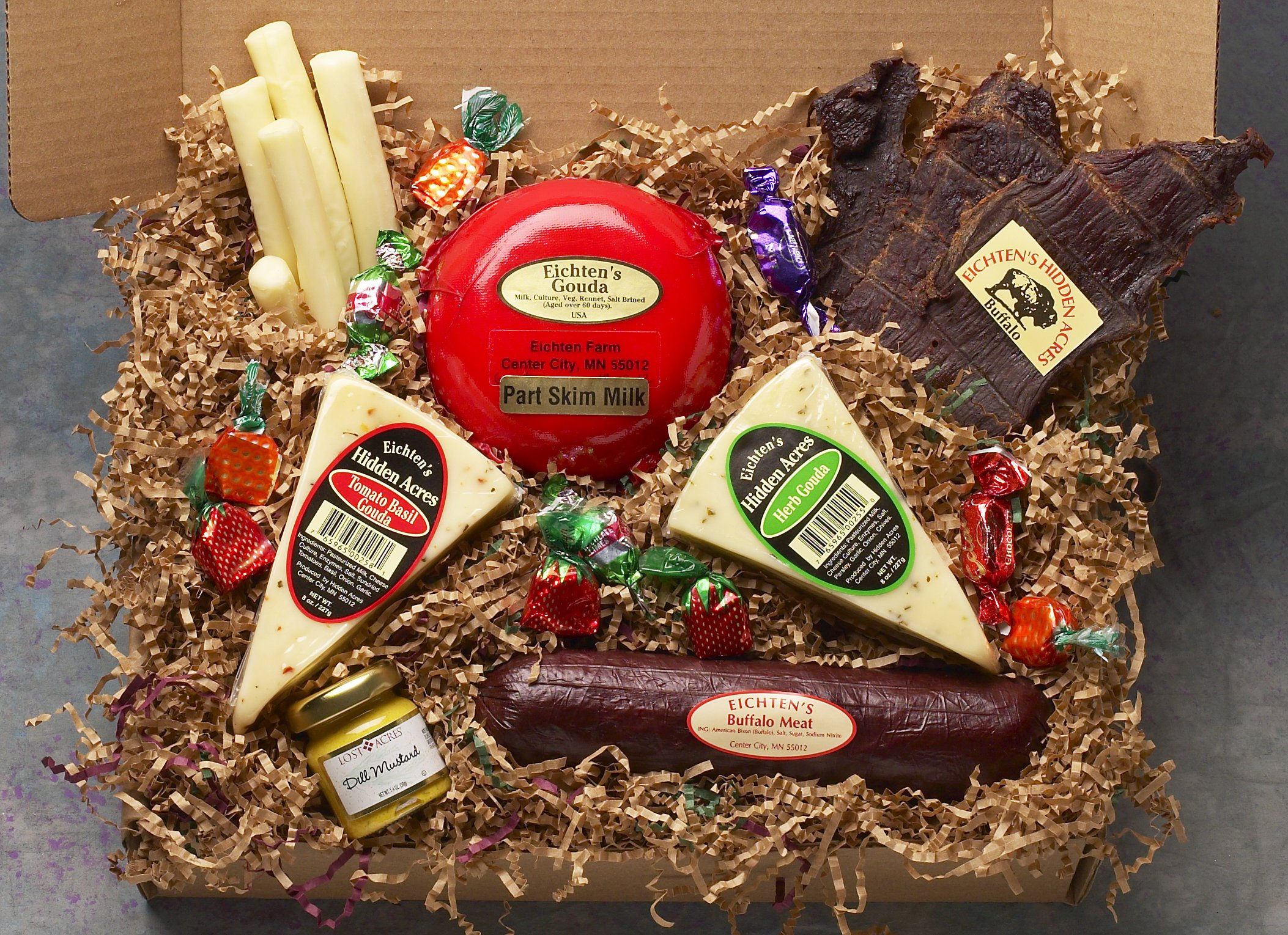 Healthy Heart Cheese and Buffalo Gift Box by Eichtens Cheese