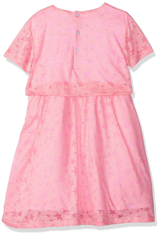696642de275e7 Amazon.com: Andy & Evan Girls' Neon Stars Short Sleeve Dress, Pink, 2T:  Clothing