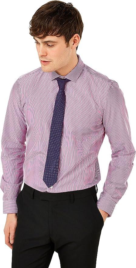 next Hombre Conjunto De Corbata Y Camisa Entallada A Rayas: Amazon ...