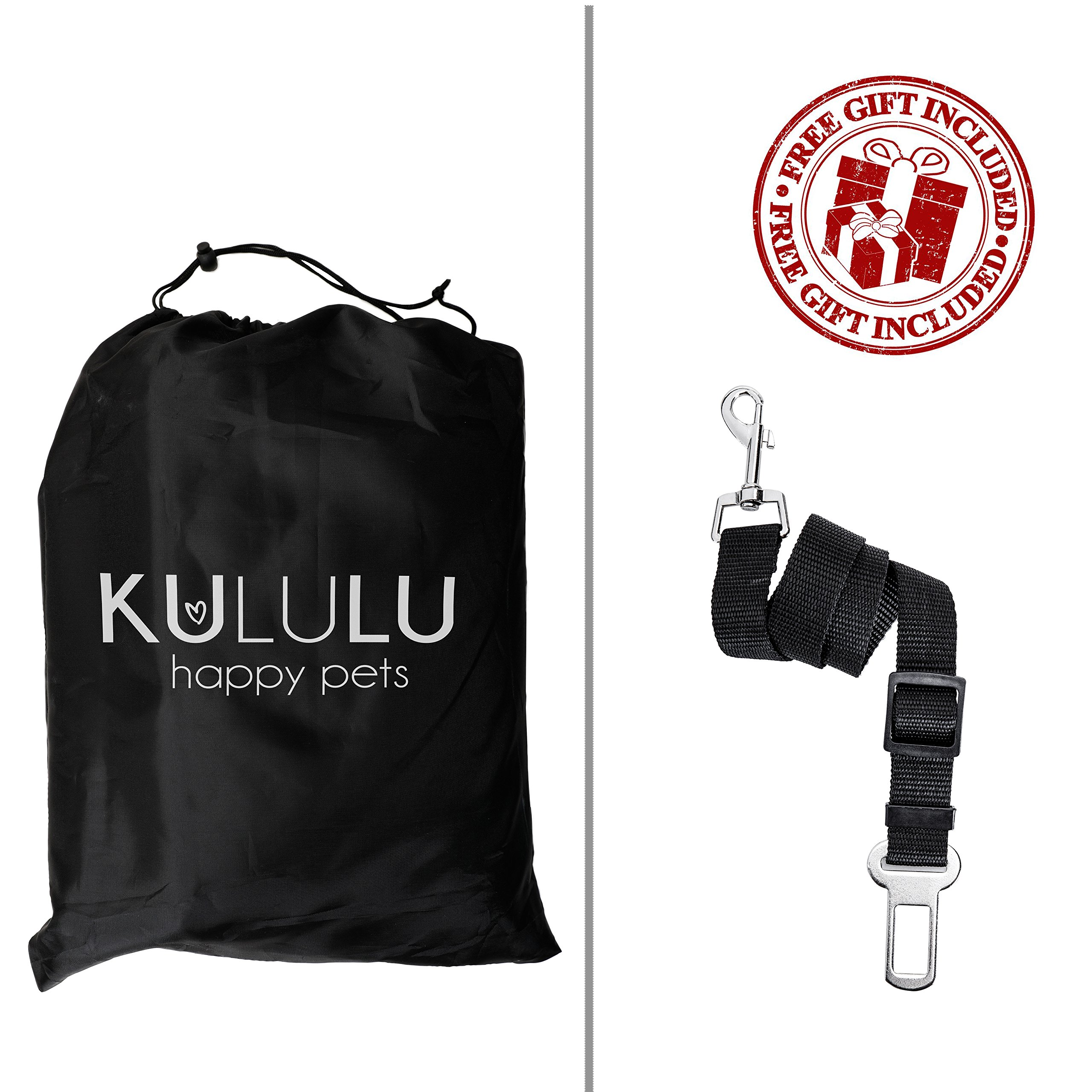 PREMIUM XL Dog Car Seat Cover Hammock Style And Cargo Liner For Cars, Trucks And Suv's. The Original Design You Can See Your Pet & Your Pet Sees You with the ClearView Window- Keeps Your Pet Calm. by Kululu (Image #6)