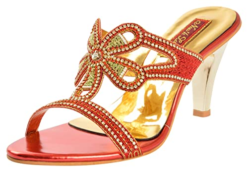 a354cbc01206 New k Look Women s Red and Gold Fashion Sandals - 7 UK  Buy Online ...