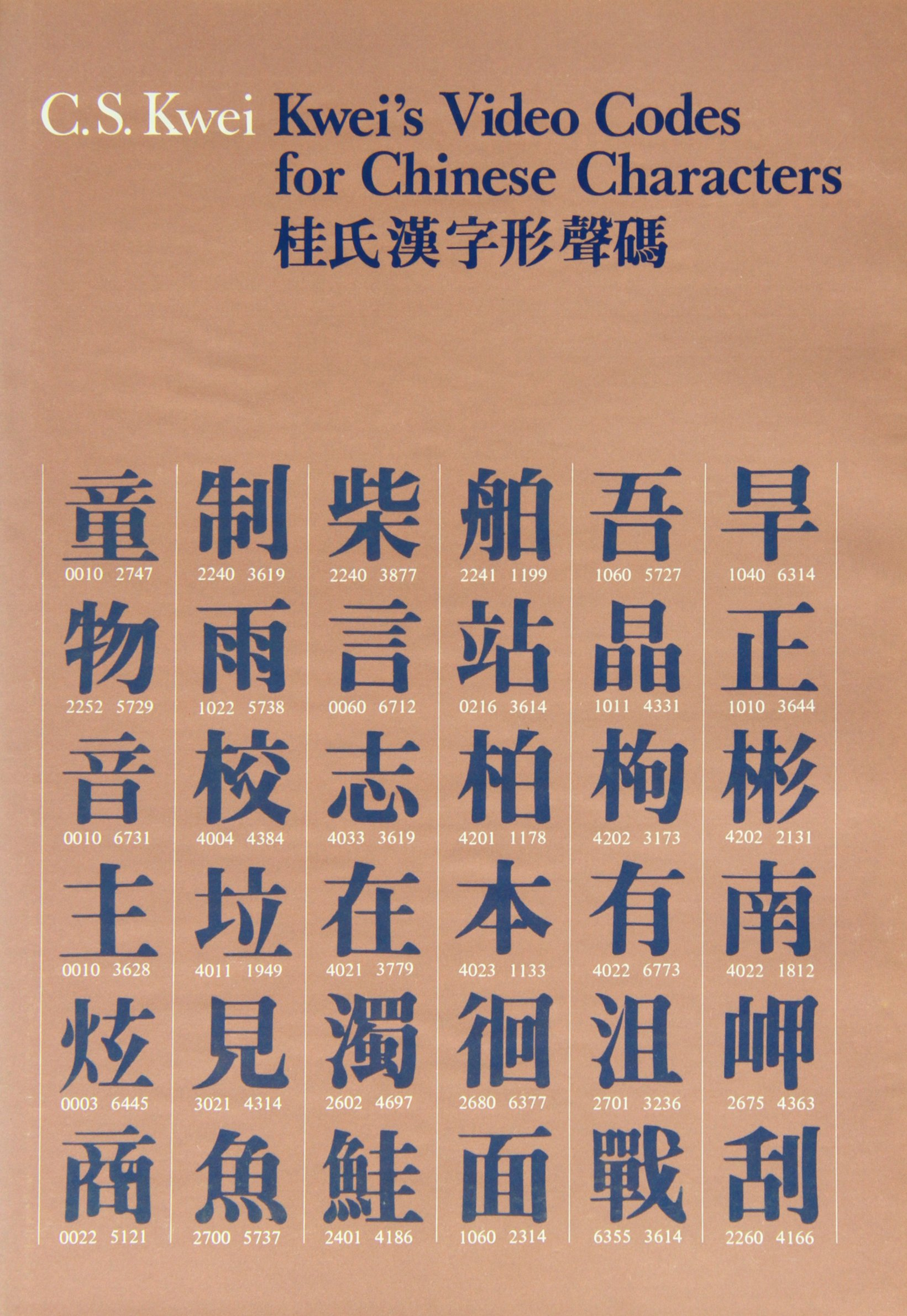 Kwei's Video Codes for Chinese Characters by Brand: The Chinese University Press
