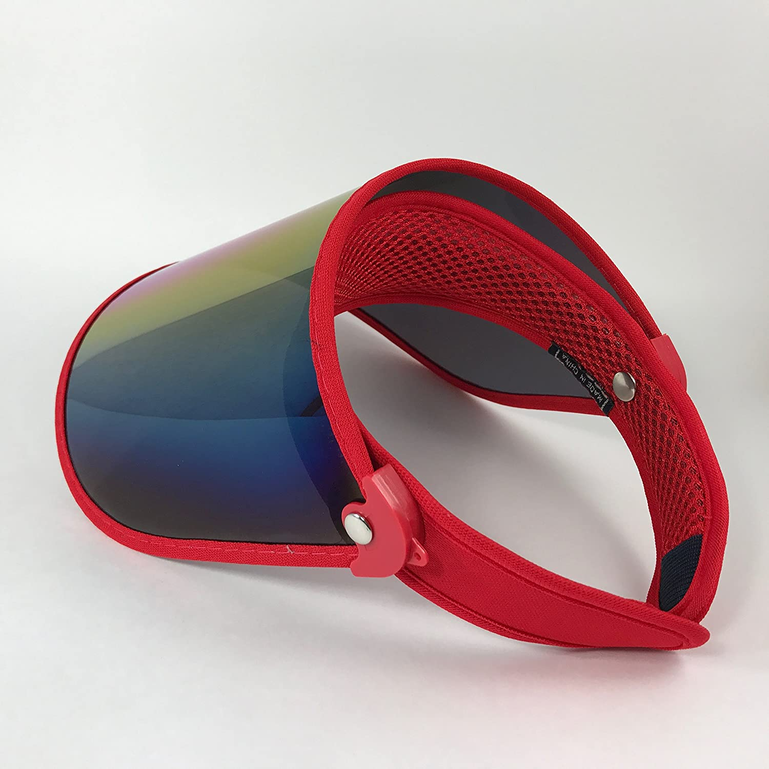 Amazon.com : Paparazzi Visor for Face Sun Protection (Shiny Transparent Plastic) - Adjustable Angle, One Size Fits Most (Torch Red) : Beauty