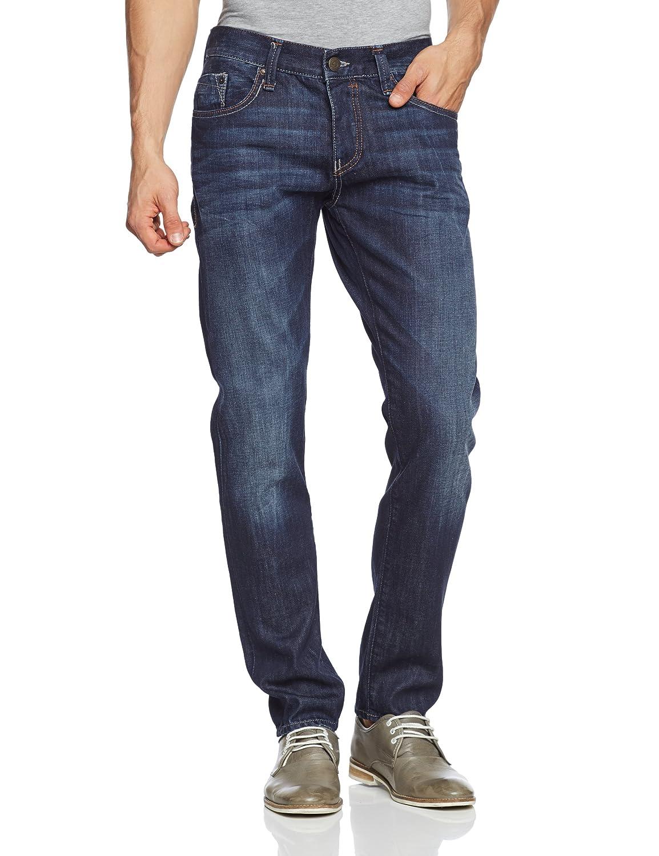 Mavi Herren Jeans Niedriger Bund YVES; indigo coated princeton; 0024311076
