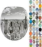 Abattant WC - Grande sélection - Finition de Haute qualité - Charnières Robustes - Fixation Facile (Skyline New York)