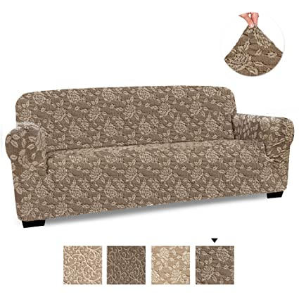 PAULATO BY GA.I.CO. Couch Cover - Sofa Cover - Sofa Slipcover - Cotton  Fabric Slipcover - 1-Piece Form Fit Stretch Stylish Furniture Cover -  Jacquard ...