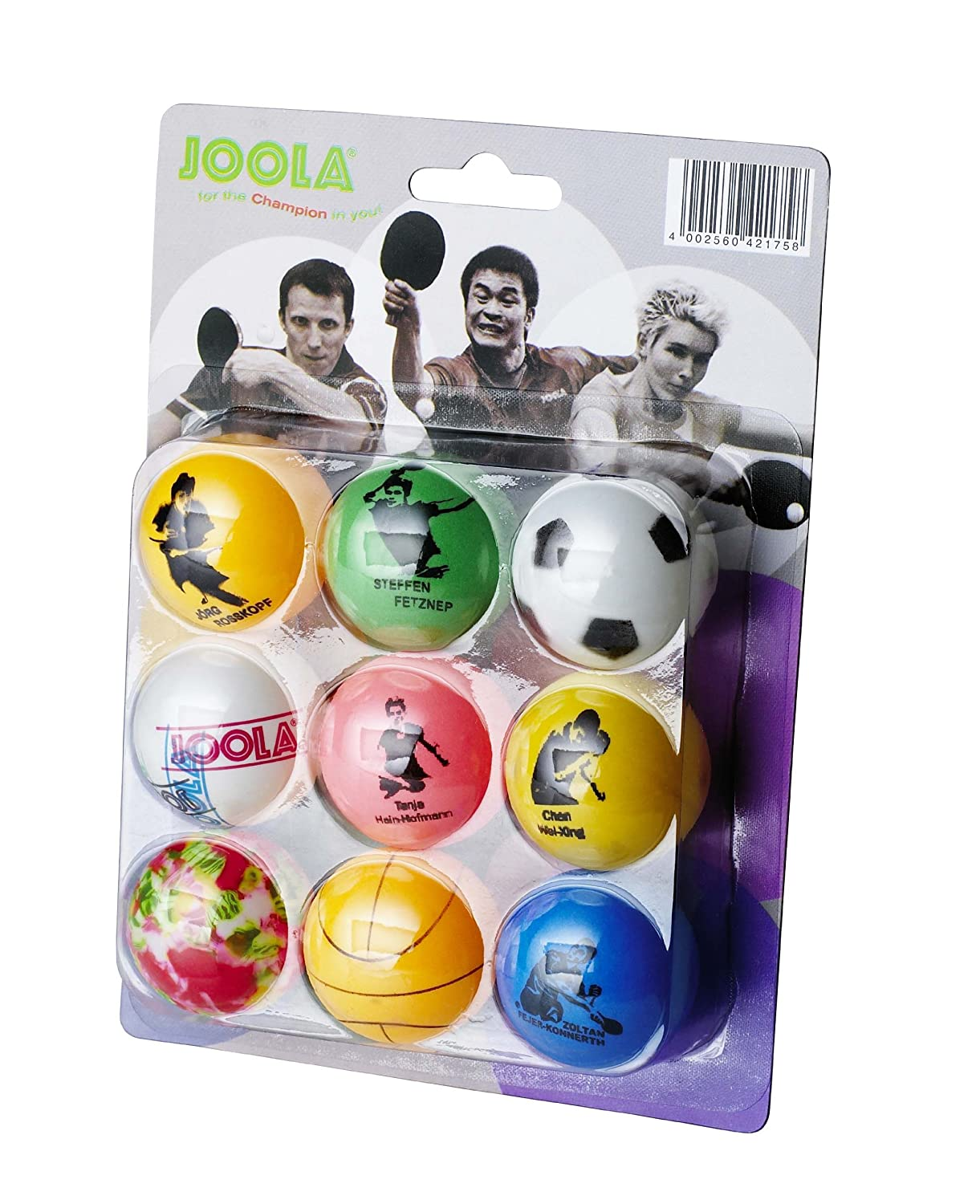 Joola Fan Table Tennis Balls - Multi-Colour