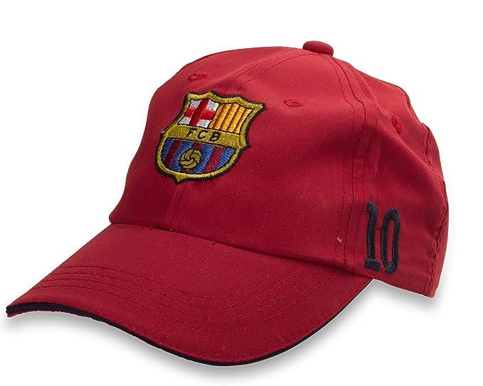 60fedf47f5999 ... Oficial lizens limitada Original FC Barcelona Messi 10 castaño Niños  Pantalla Gorro - Oficial de FC Barcelona Fan Artículo  Amazon.es  Ropa y  accesorios
