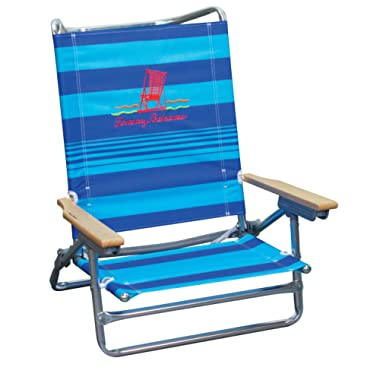 Tommy Bahama 5 Position Classic Lay Flat Beach Chair