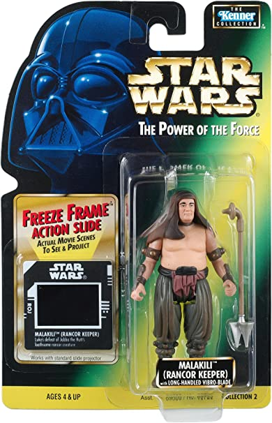 Star Wars The Power Of The Force Malakili Rancor Keeper Collection 2 Green Card