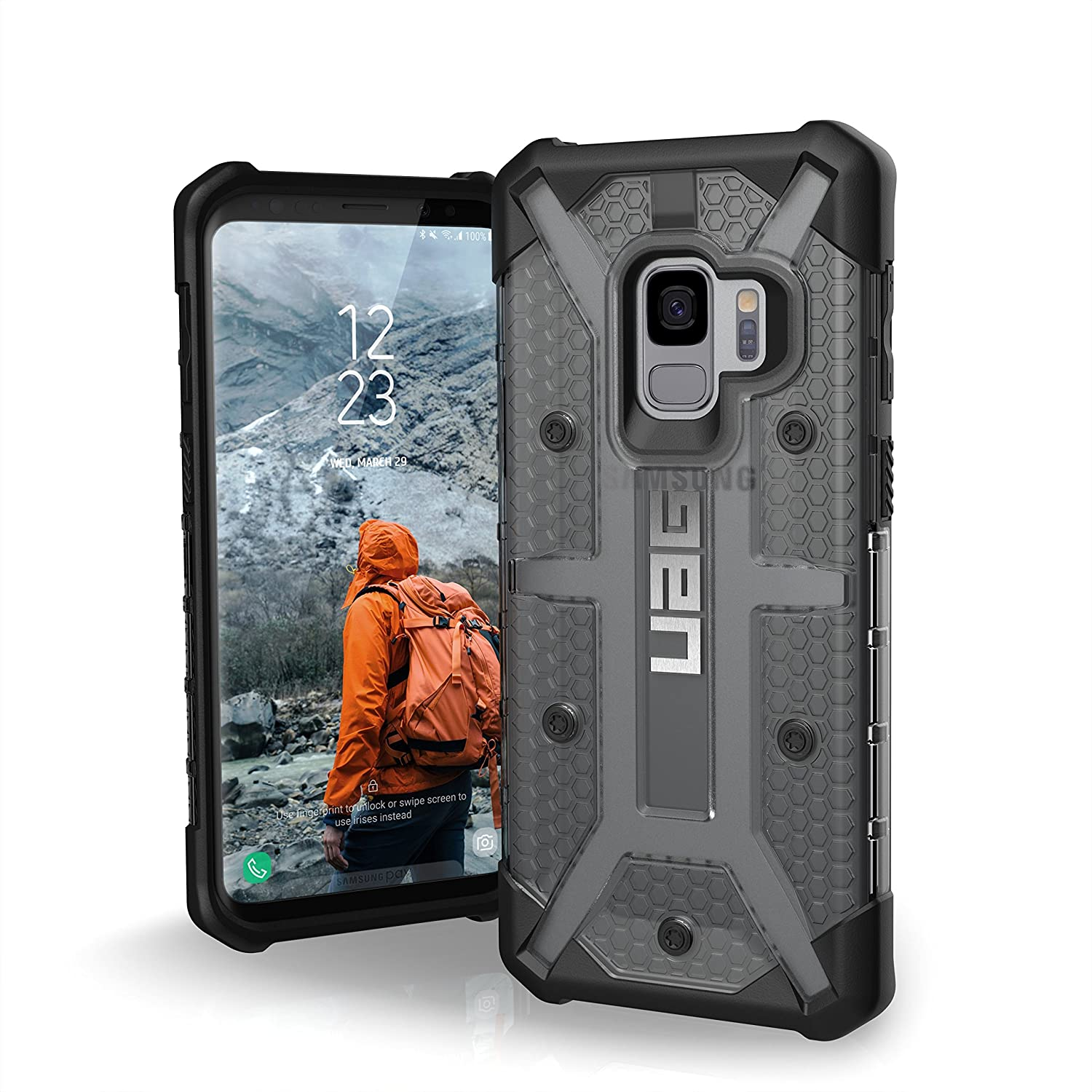 URBAN ARMOR GEAR UAG Samsung Galaxy S9 [5.8-inch Screen] Plasma Feather-Light Rugged [Ash] Military Drop Tested Phone Case