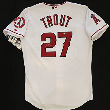 44cb06f9b Image Unavailable. Image not available for. Color  Mike Trout Autographed  Angels Jersey - authentic. MLB Hologram COA.
