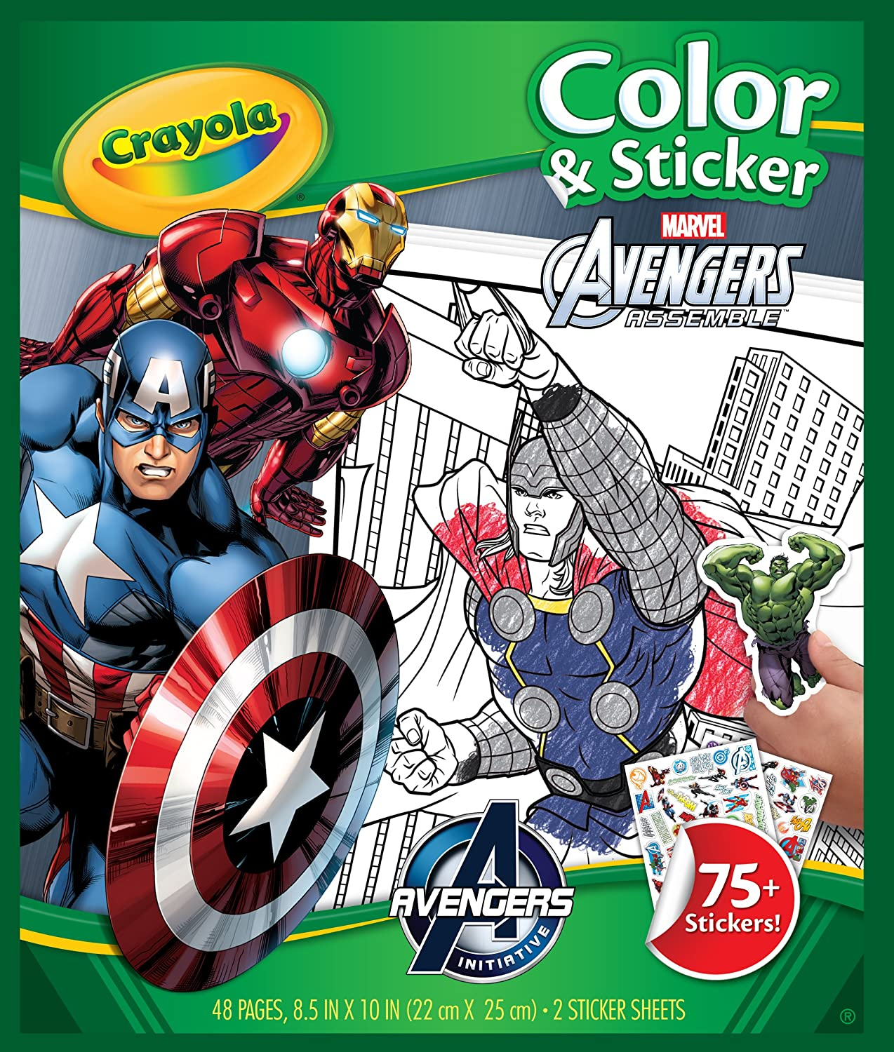 Crayola Avengers Color 'n Sticker Books by Crayola