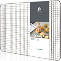 """Baking Half Sheet Pan and Rack Set - Commercial Grade Aluminum Half Size 18"""" x 13"""" and Stainless Steel Cooling Rack 11.5"""" x 16.5"""" 