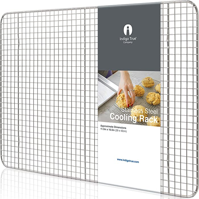 "Stainless Steel Cooling Rack Half size - Commercial Grade Metal 11.5"" x 16.5"" 
