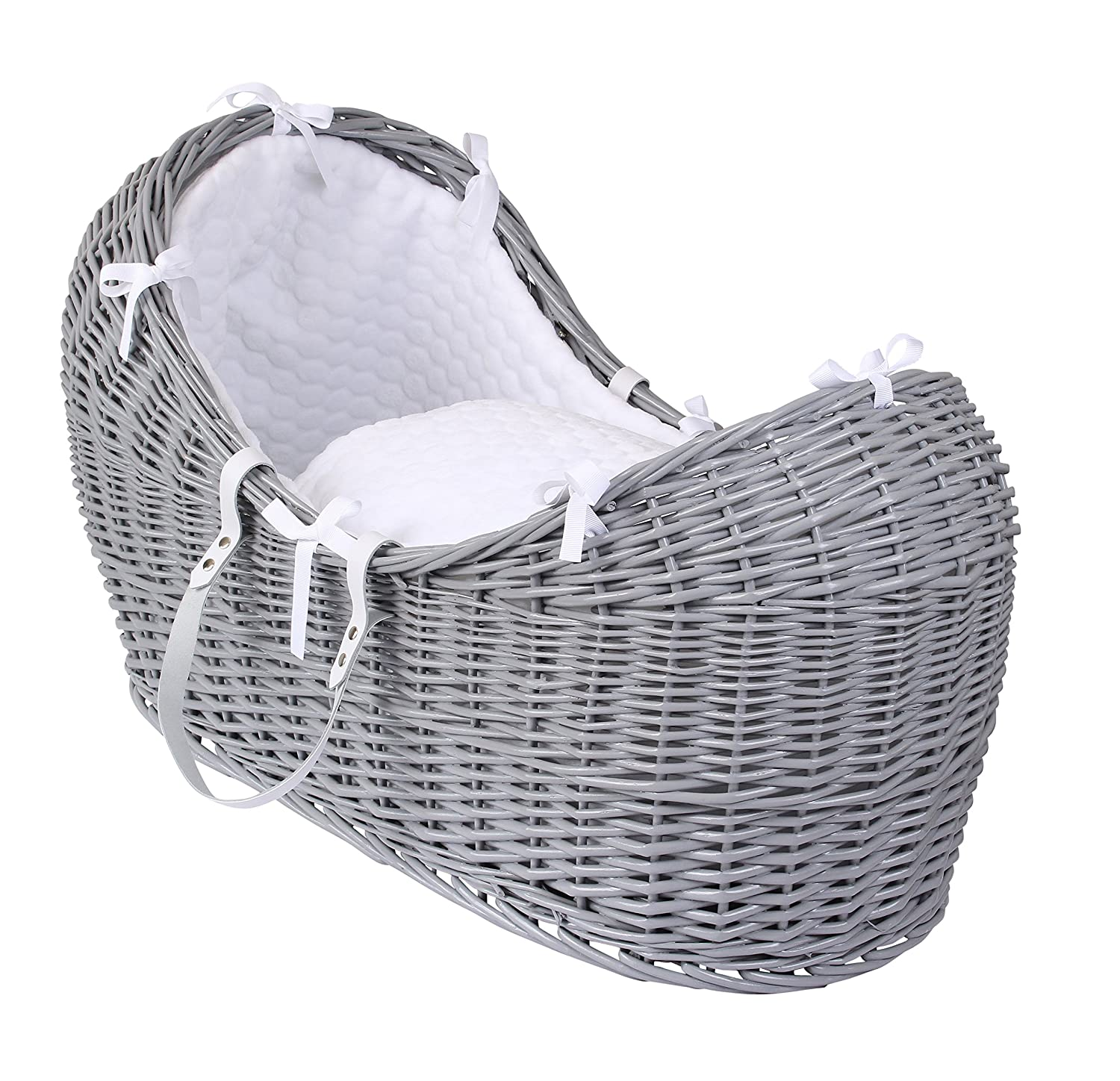 Clair de Lune Marshmallow Grey Wicker Noah Pod, White CL5540GWE