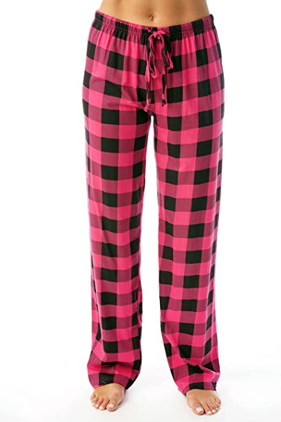 Just Love Women Buffalo Plaid Pajama Pants Sleepwear At Amazon