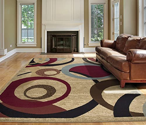 Ottomanson Royal Abstract Circle Area Rug