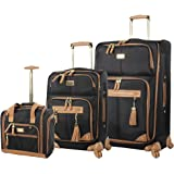 Steve Madden Luggage 3 Piece Softside Spinner Suitcase Set Collection