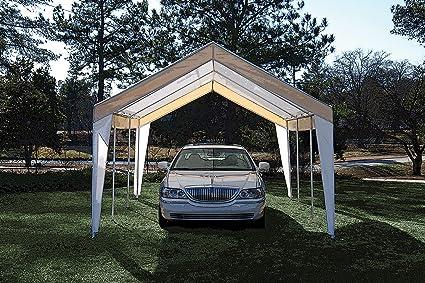 True Shelter 10u0027 x 20u0027 Car Canopy Gazebo Tent Cover 8 Legs Steel Frame & Amazon.com: True Shelter 10u0027 x 20u0027 Car Canopy Gazebo Tent Cover 8 ...