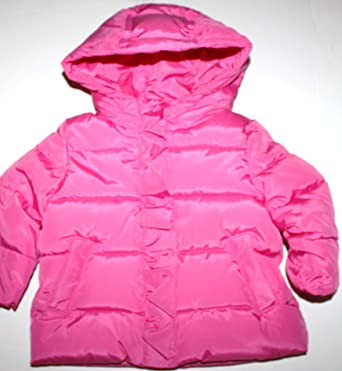 95fae27ef0e9 Baby Gap Infant Toddler Girl s Neon Pink Puffer Jacket Coat Hood (12-18 Mo