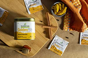 The Divine Foods | Organic Golden Milk Latte | 28 Servings | (4.4 oz) | Natural Detox Drink Dnd | Haldi Milk| High Curcumin | Non - GMO | Nutrient Dense Superfoods | 100 % Natural