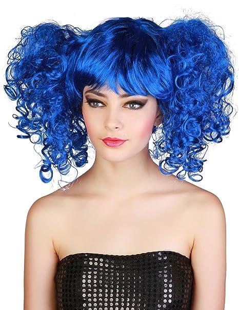 Generique - Perruque Bleue à couettes Femme