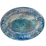 "Certified International Radiance Teal Oval Platter, 18"" x 13.5"""