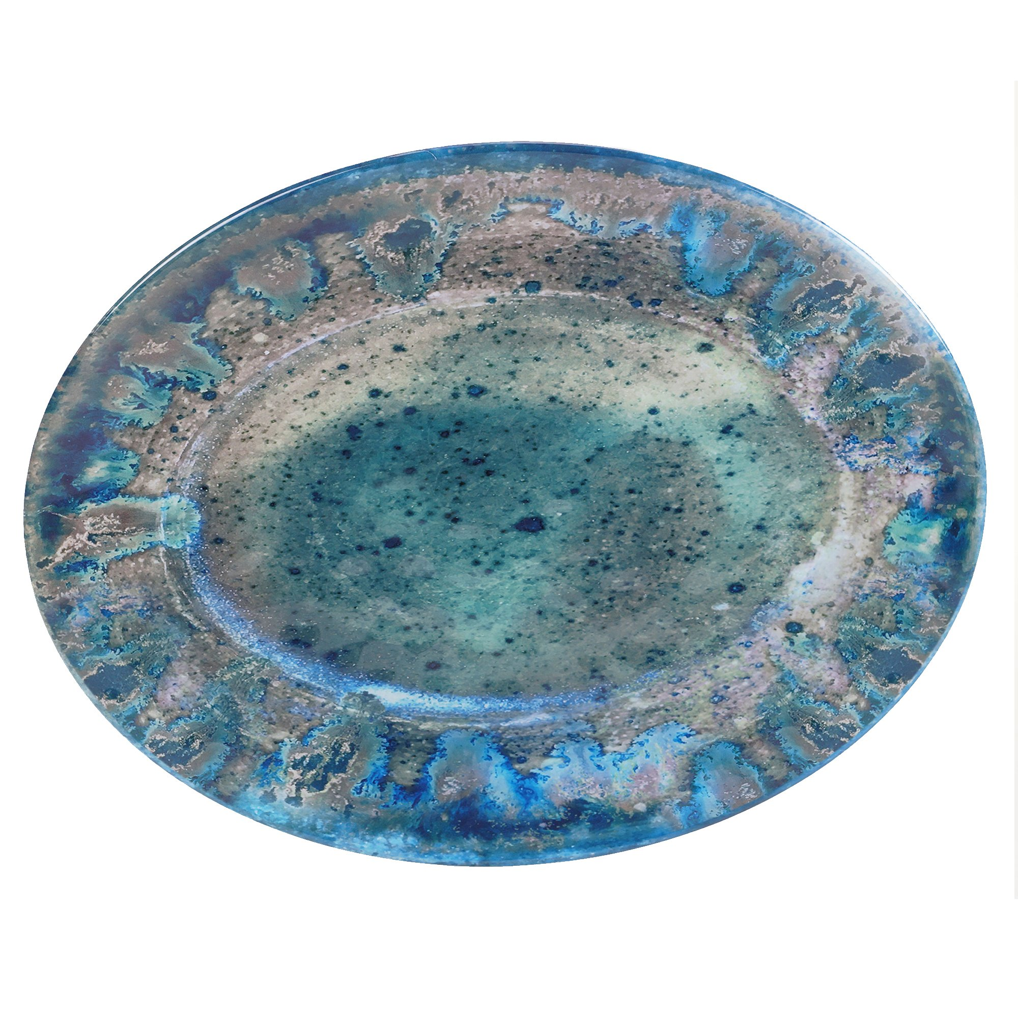 Certified International Radiance Teal Oval Platter, 18'' x 13.5''