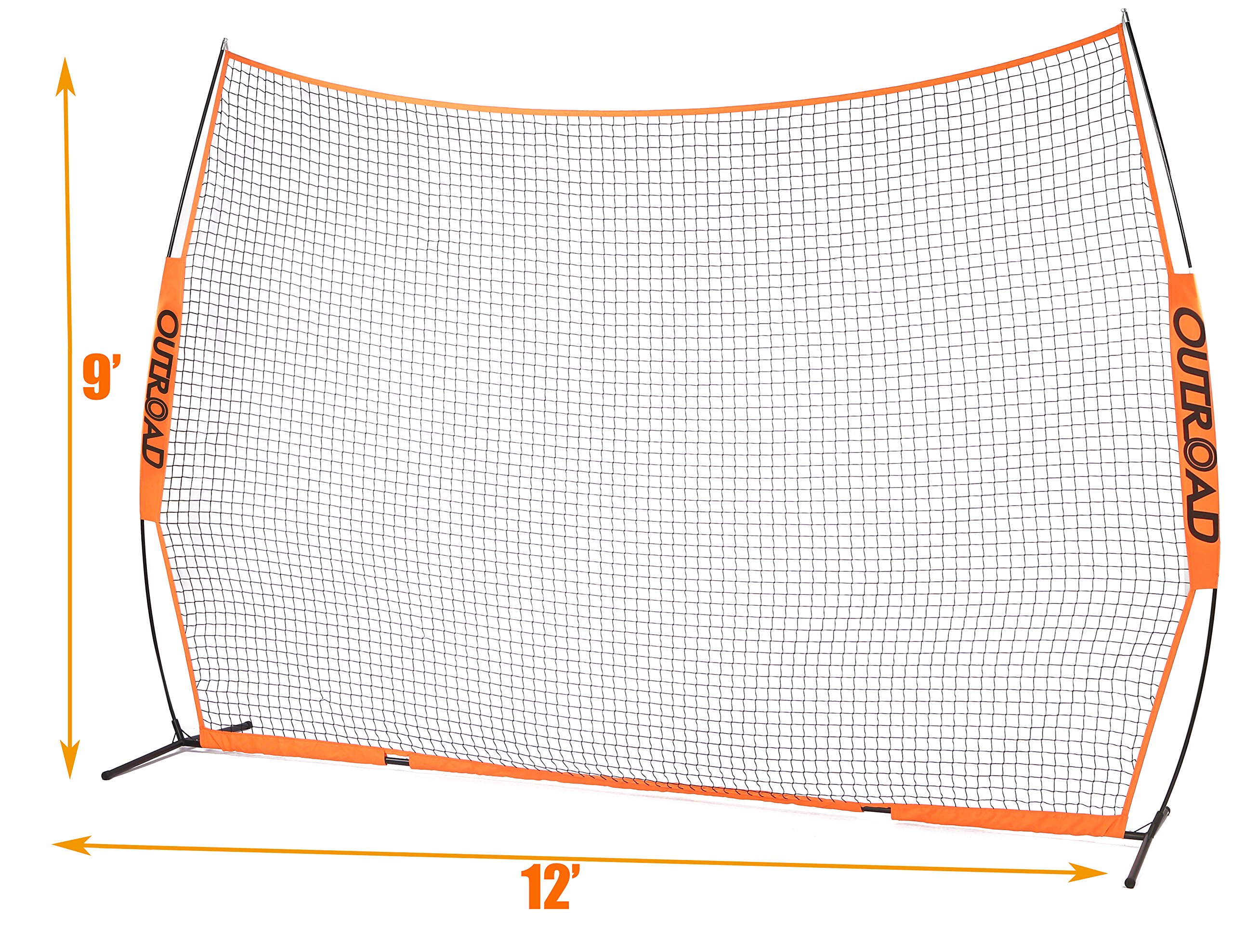 OUTROAD 12x9 FT Barrier Net - Portable Sports Barricade Practice Backstop Net w/ Carry Bag by OUTROAD (Image #6)