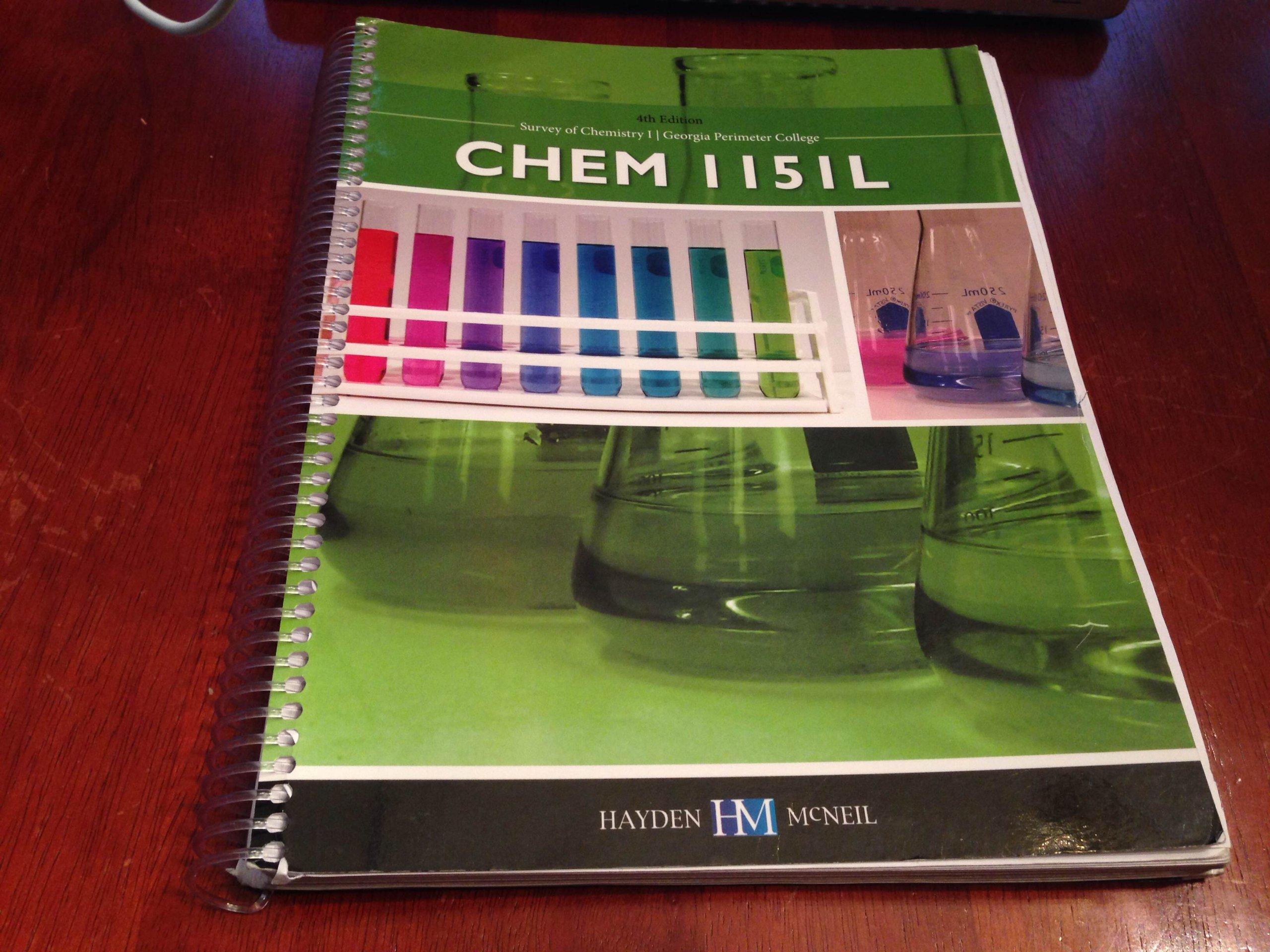 georgia perimeter chemistry lab manual