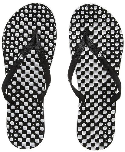 adidas Damen Eezay Dots Zehentrenner, Mehrfarbig (Ftwbla/Negbas/Negbas), 39 EU