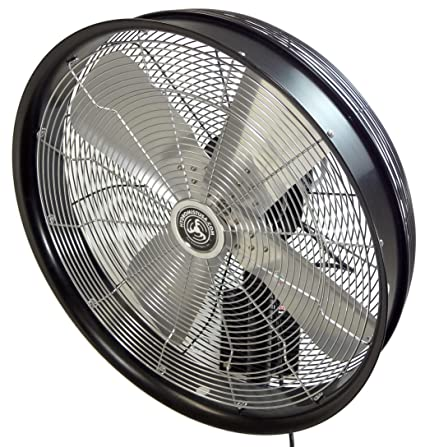 "HydroMist F10-14-006 24"" Shrouded Outdoor Wall Mount Oscillating Fan"