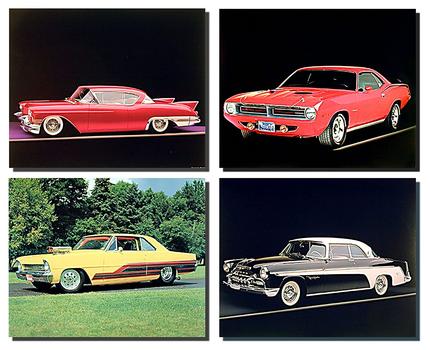 Impact Posters Gallery Wall Decor Picture Art Print Vintage Old Chevy Classic Car Automobile 8x10 Four Set Poster