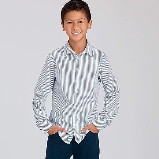 نمط الخياطة R10439 / S9056 - قمصان للأولاد والأطفال والمراهقين، مقاس: HH (3-4-5-6)