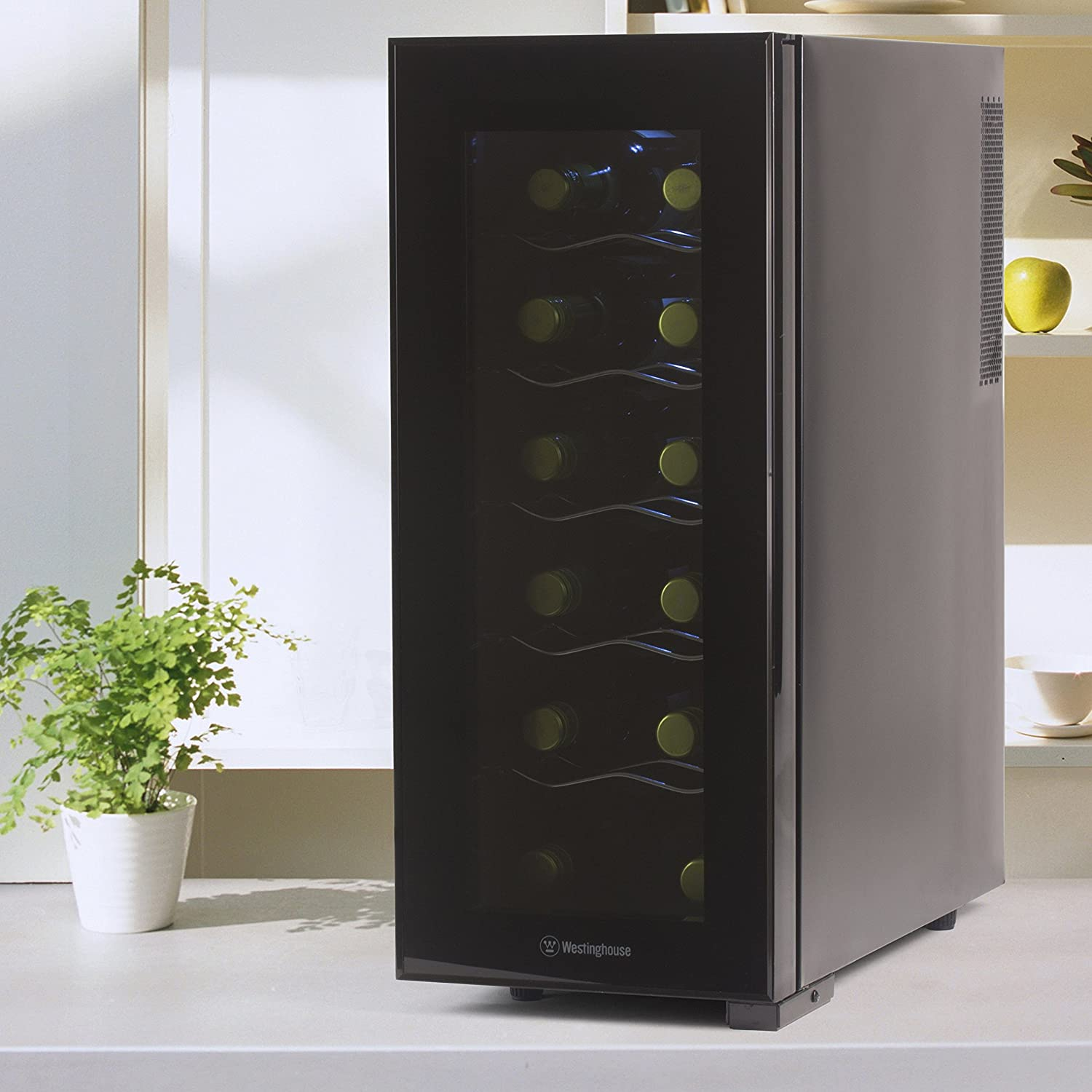 12 Bottle Wine Fridge Part - 35: Amazon.com: Westinghouse WWT120MB Thermal Electric 12 Bottle Wine Cellar,  Black: Kitchen U0026 Dining