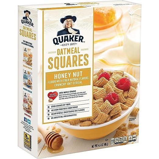 Quaker Oatmeal Squares, Honey Nut, 14.5 Ounce