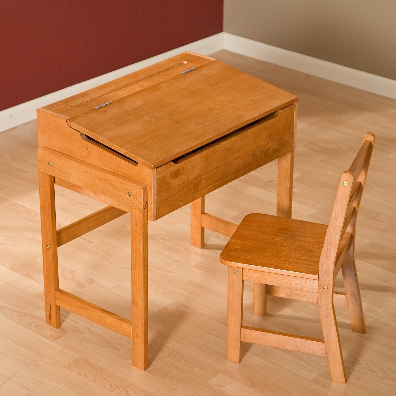 amazon com premium children s schoolhouse desk and chair set pecan