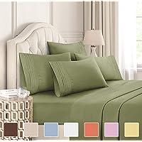 Full Size Sheet Set - 6 Piece Set - Hotel Luxury Bed Sheets - Extra Soft - Deep...