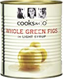 Cooks & Co Green Figs in Light Syrup 820 g (Pack of 6)