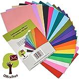 Carta velina OfficeTree® 300 fogli formato A4 - 20 colori - tanto divertimento nel bricolage, nel decorare, nel disegnare, nel tagliare - 16 g/m2 qualità premium