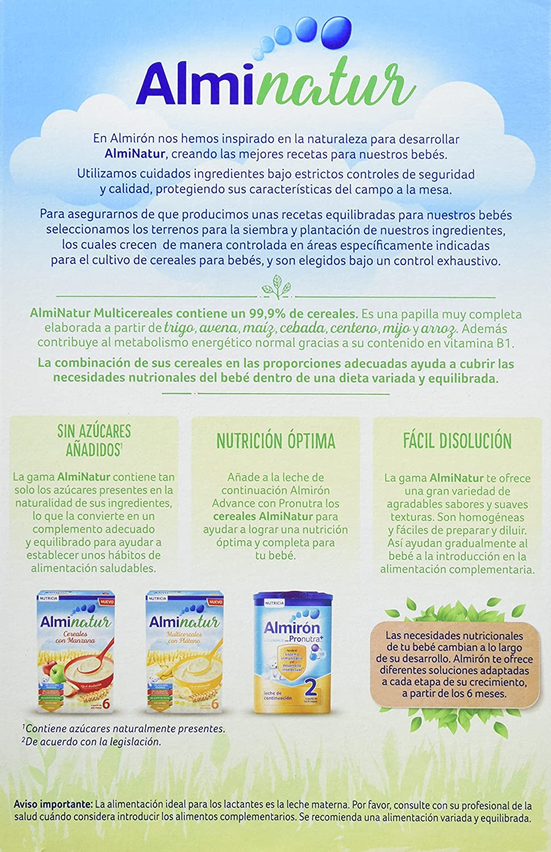 Alminatur Papilla de multicereales a partir de los 6 meses - 250 gr: Amazon.es: Alimentación y bebidas